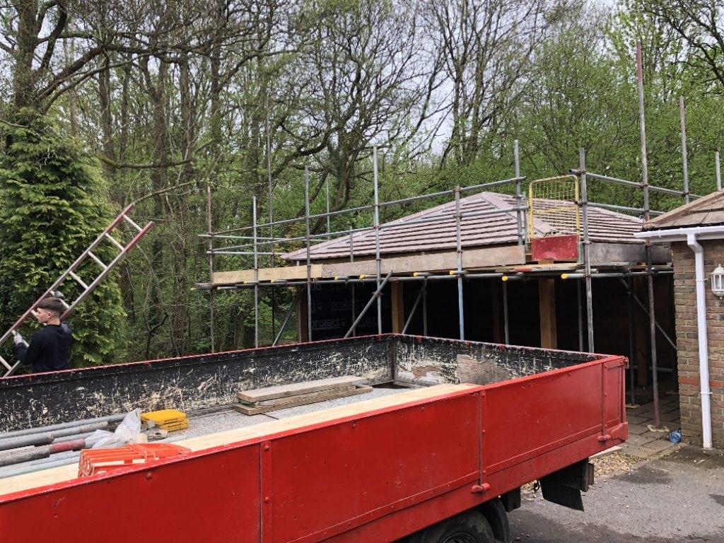Garage Roof Scaffold